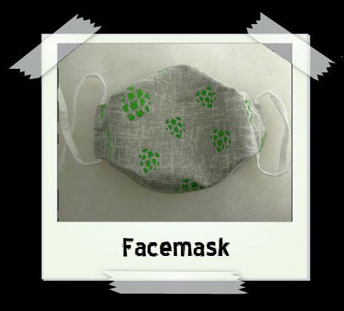 Grey Hops Facemask