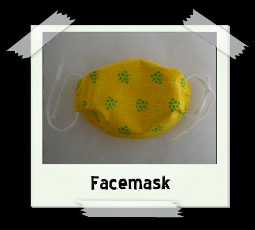 Yellow Hops Facemask