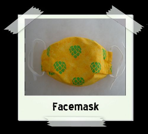 Yellow Hops Facemask