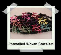 Enamelled Woven Bracelets