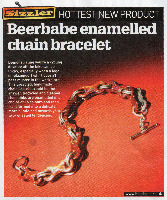 Enamelled Bicycle Chain Bracelets