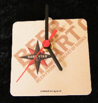 Dark Star Beer Mat Clock BM001