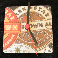 Dark Star Beer Mat Clock BM004