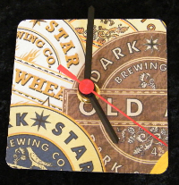 Dark Star Beer Mat Clock BM006