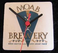 Moab Brewery Beer Mat Clock BM007