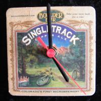 Boulder Beer Singletrack Beer Mat Clock BM010