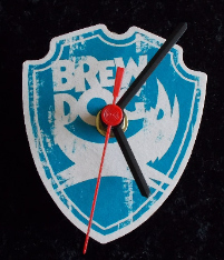 Brewdog Beer Mat Clock BM013