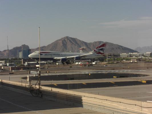BA 747 landing