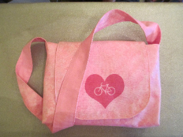 Pink Bike Heart Bag