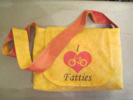 Yellow 'I Love Fatties' Bag