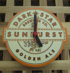 Dark Star Sunburst Clock