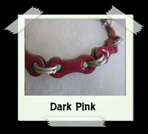 Bicycle Chain Bracelet - Dark Pink