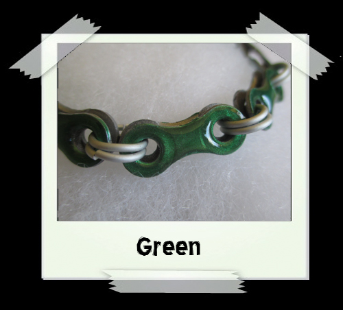 Bicycle Chain Bracelet - Green
