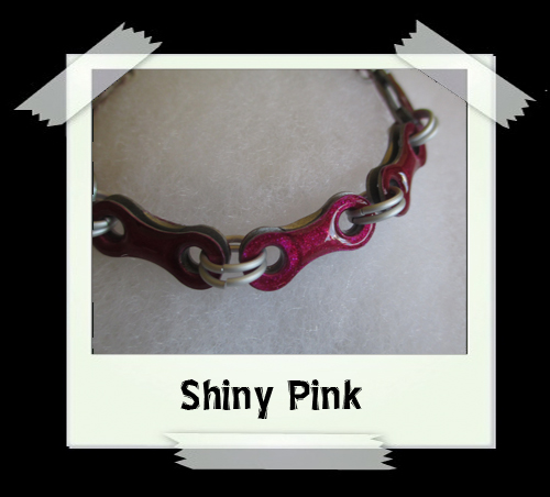 Bicycle Chain Bracelet - Shiny Pink