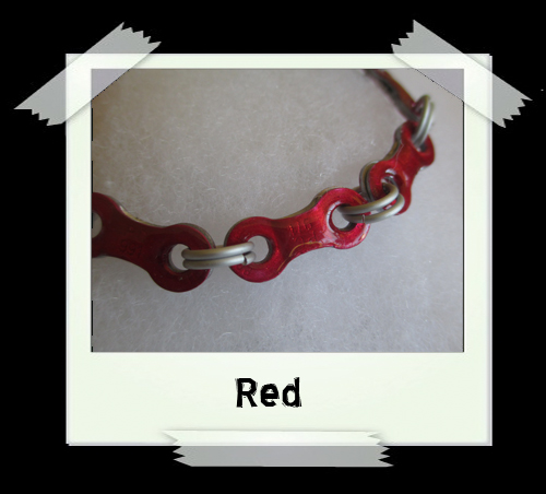Bicycle Chain Bracelet - Red