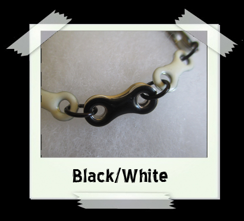 Bicycle Chain Bracelet - Black/White