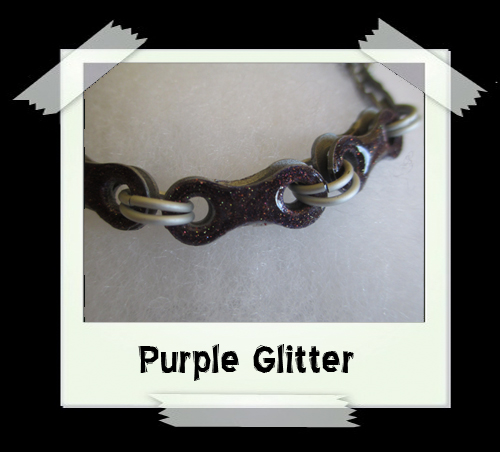 Bicycle Chain Bracelet - Purple Glitter