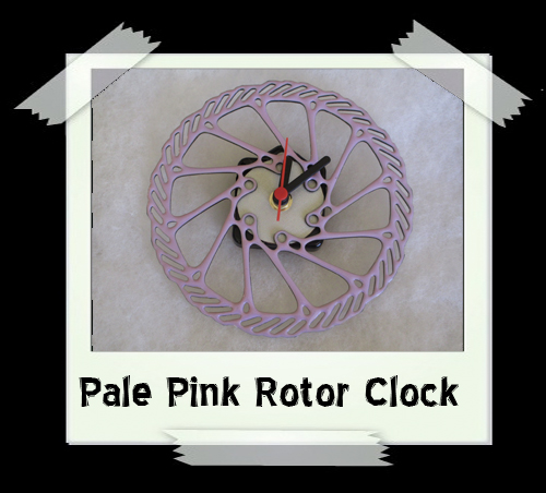 Pale Pink Rotor Enamelled Clock