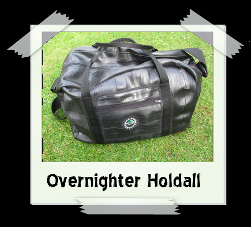 Overnighter Holdall - Bicycle Print Fabric