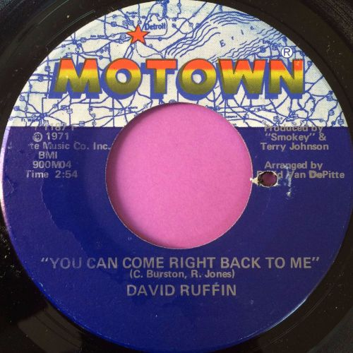 David Ruffin-You can come right back to me-Motown E+