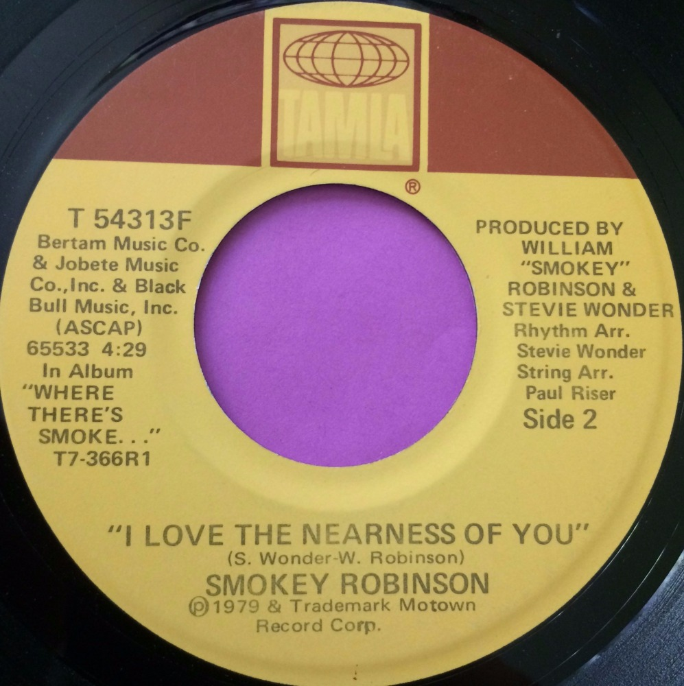 Smokey Robinson-I love the nearness of you-Tamla E+