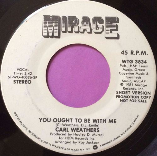 Carl Weathers-You ought to be with me-Mirage WD E+