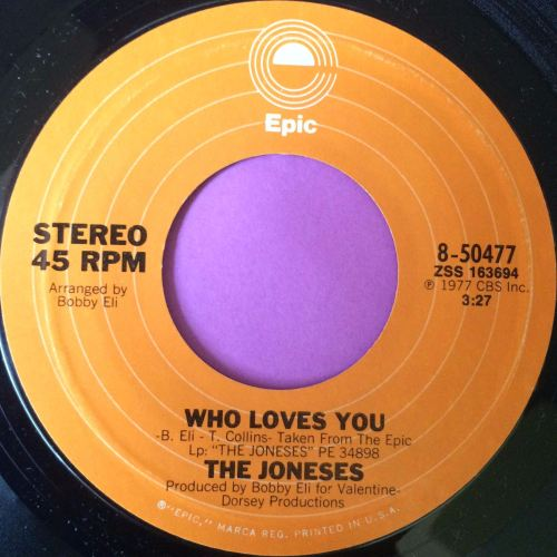 Joneses-Who loves you/ Lies-Epic M-
