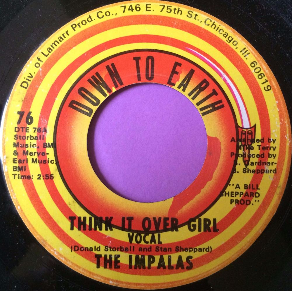 Impalas-Think it over girl-Down to earth E+