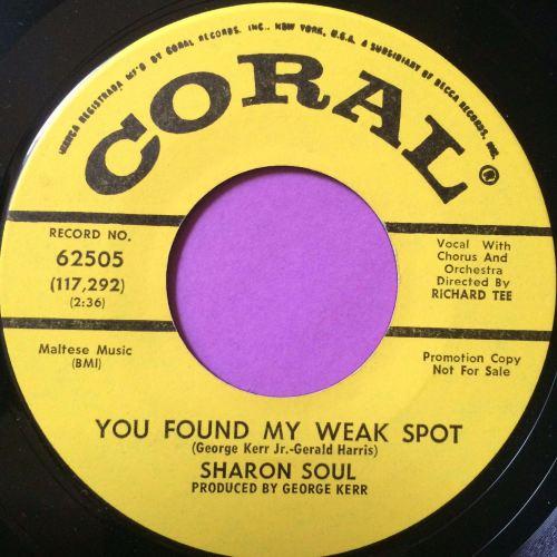 Sharon Soul - You found my weak spot - Coral DJ - M-