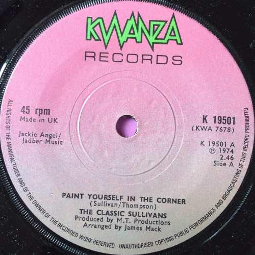 Classic Sullivans-Paint yourself in the corner-UK Kwanza M-