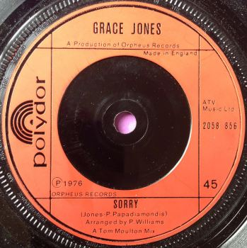 Grace Jones-Sorry-UK Polydor M-