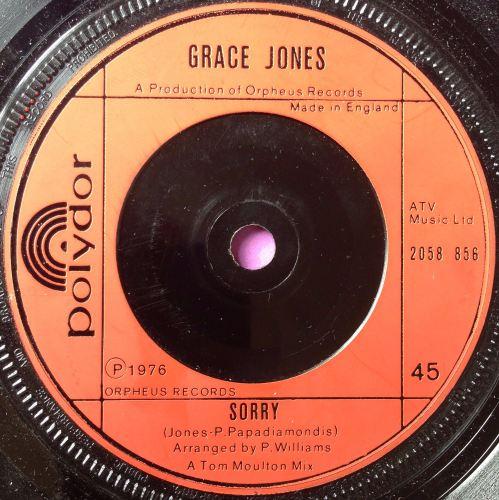 Grace Jones-Sorry-UK Polydor M-