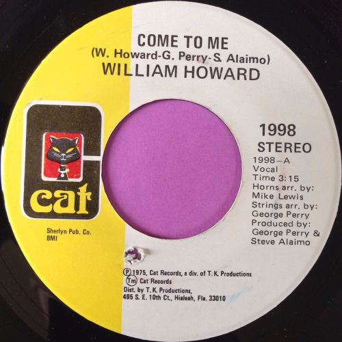William Howard-Come to me-Cat E+