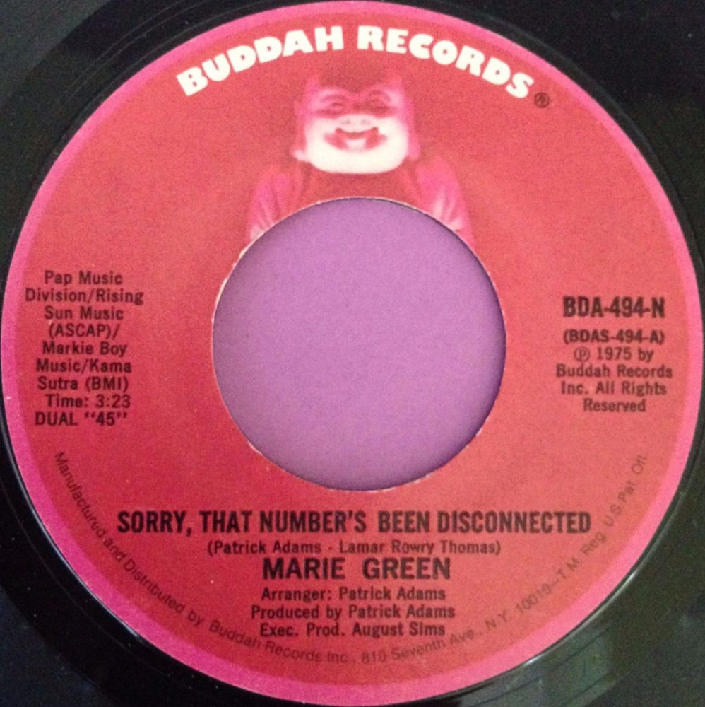 Marie Green-Sorry, that number`s been disconnected-Buddah E+