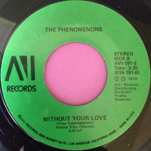 Phenomenons-Without your love-AVI E+