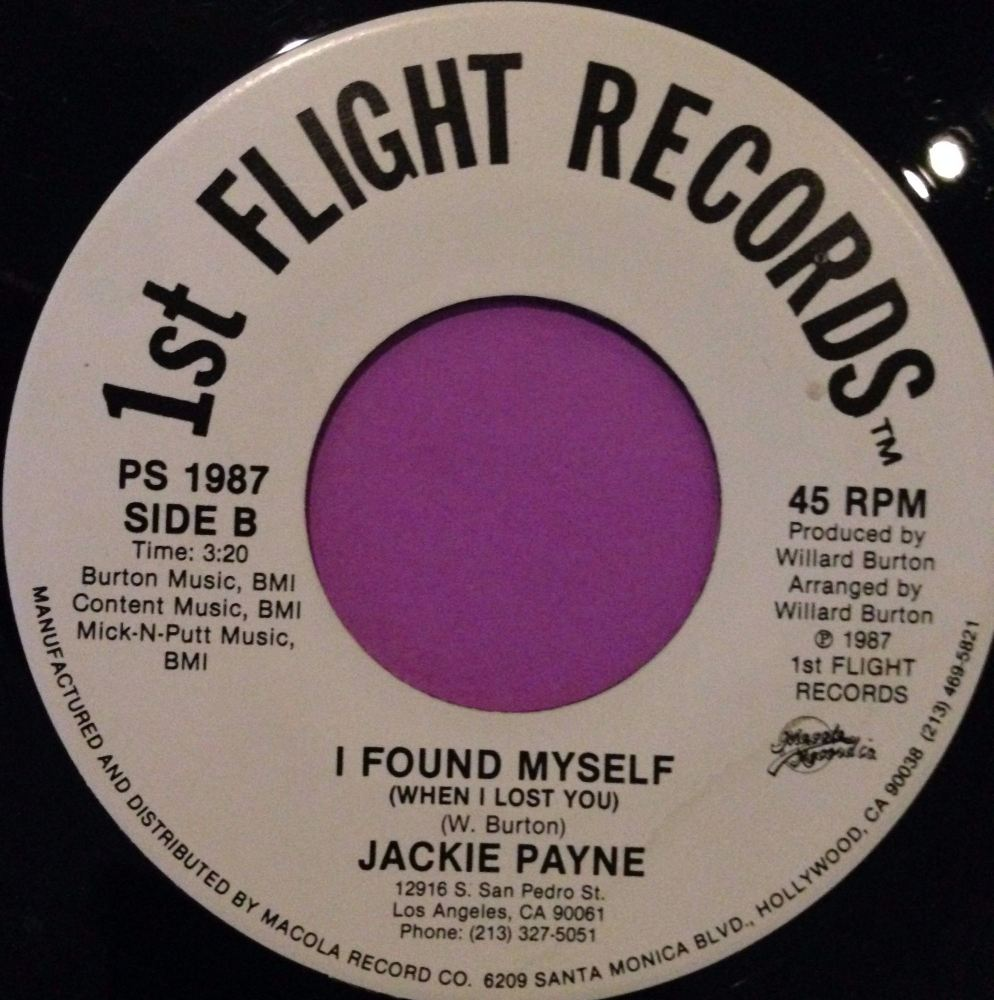 Jackie Payne-I found myself-1st Flight E+