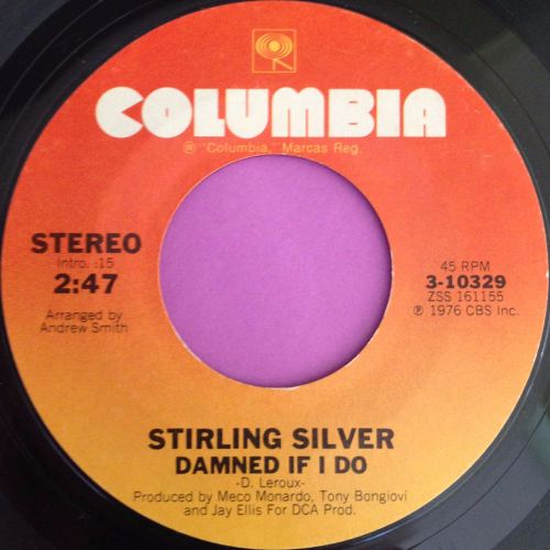 Stirling Silver-Damned if I do-Columbia E+