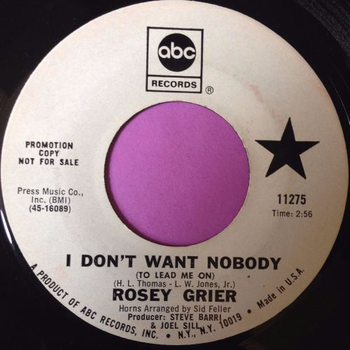 Rosey Grier-I don`t want nobody-ABC WD E+