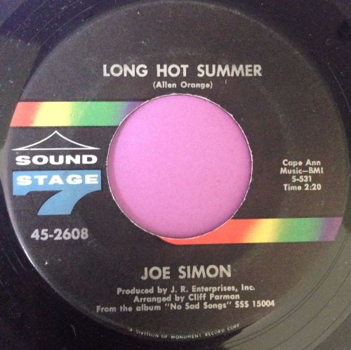 Joe Simon-Long hot summer-Sound stage 7 E+