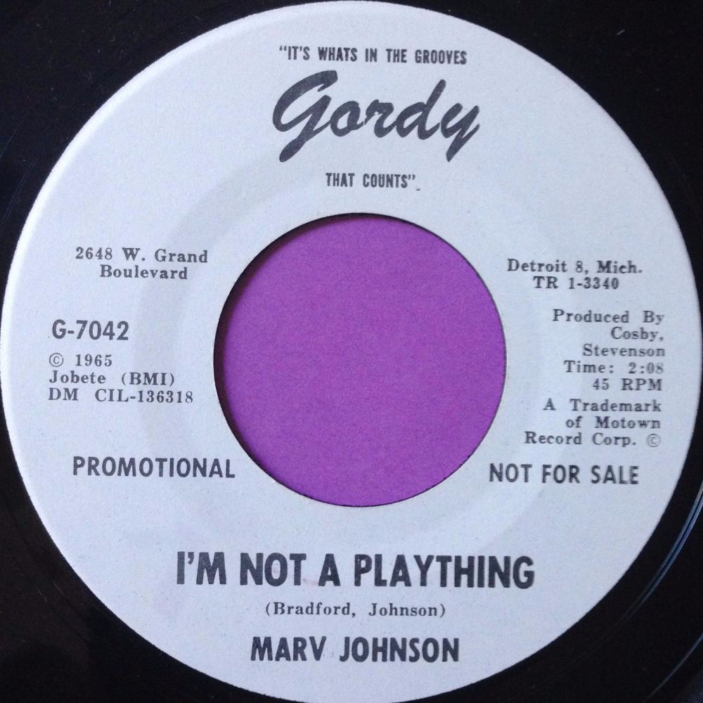 Marv Johnson-I`m not a plaything-Gordy WD M-