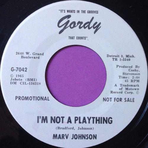 Marv Johnson-I`m not a plaything-Gordy WD M-