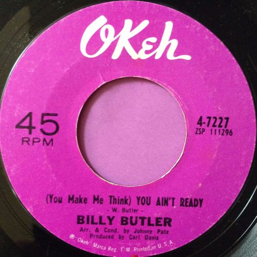 Billy Butler-You make me think-Okeh E+