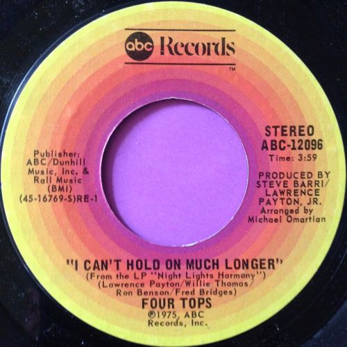 Four Tops-I can`t hold on much longer-ABC E+