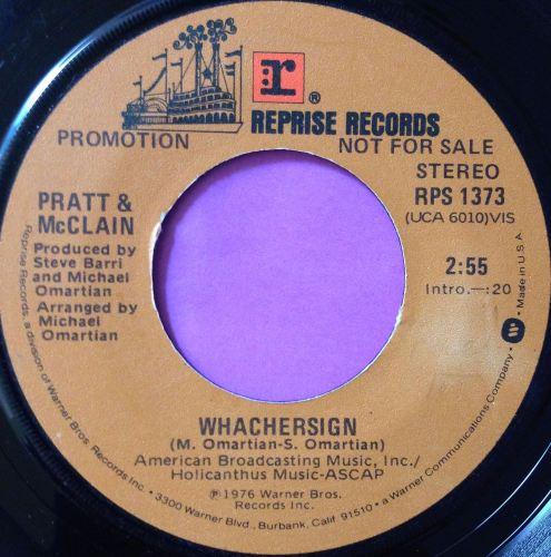 Pratt & McClain-Whachersign-Reprise E