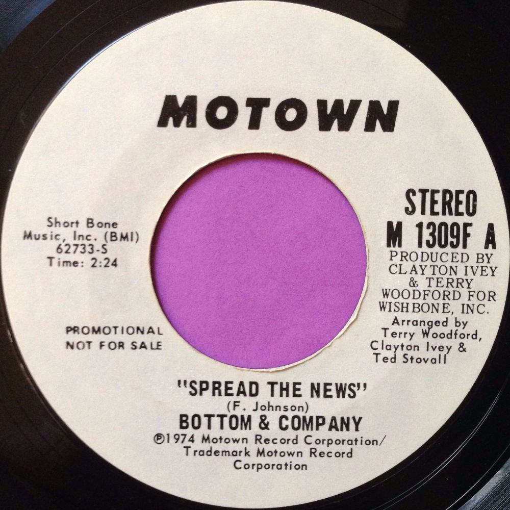 Bottom & Company-Spread the news-Motown WD E+