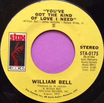 William Bell-You`ve got the kind of love I need-Stax E+