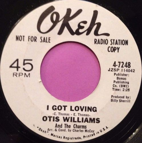 Otis Williams-I got lovin`-Okeh E+