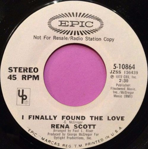 Rena Scott-I finally found the love-Epic WD M-