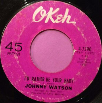 Johnny Watson-I`d rather be your baby-Okeh vg+