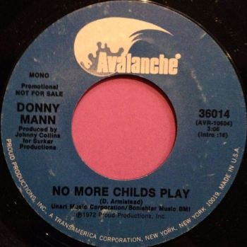 Donny Mann-No more childs play-Avalanche E+